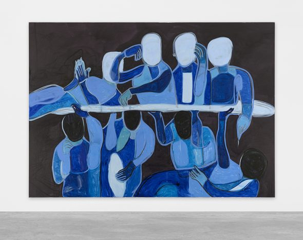 Melike Kara: 'all vanish', 2017, acrylic and oil sticks on canvas, 200 x 280 cm // Courtesy Peres Projects, Berlin; Photographer: Matthias Kolb