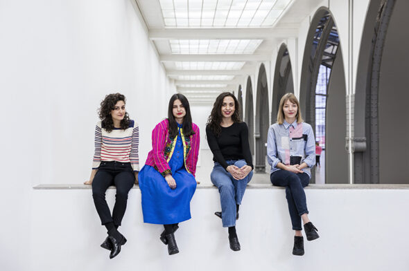 Jumana Manna, Sol Calero, Iman Issa, Agnieszka Polska (from left to right) // Photo credit David von Becker