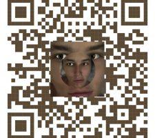 """[{ """"CIBELLE"""" (CAVALLI} BASTOS )], qr code, portrait"""