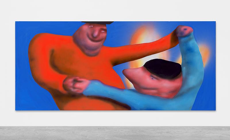 Austin Lee: 'SlowDance', 2018, Acrylic on canvas, 122 x 274.5 cm // Courtesy Peres Projects, Berlin; Photo: Matthias Kolb