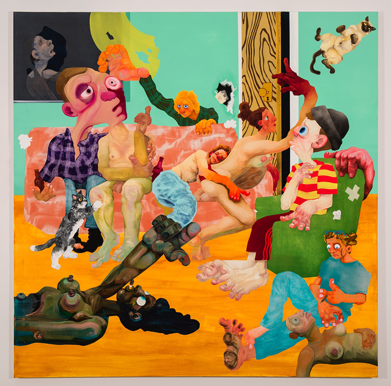 Canyon Castator: 'Butting heads with strays', 2017 // Courtesy of the artist and Postmasters Gallery, New York
