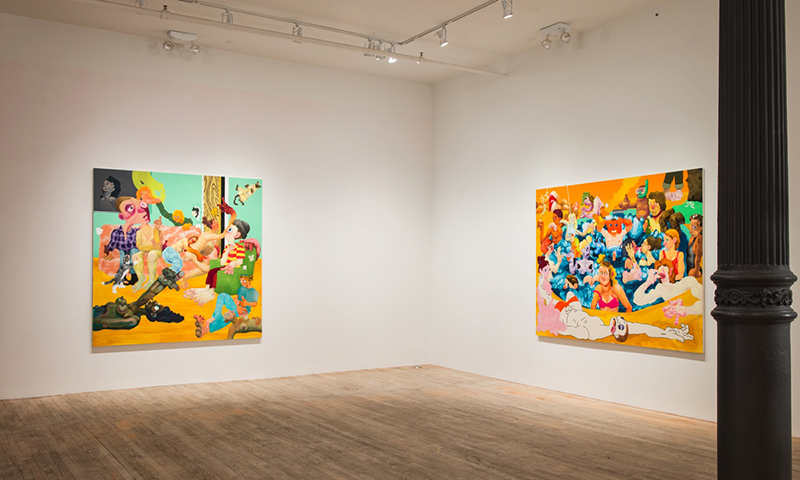 Canyon Castator: 'Pissing Match' (Installation View), 2018 // Courtesy of the artist and Postmasters Gallery, New York