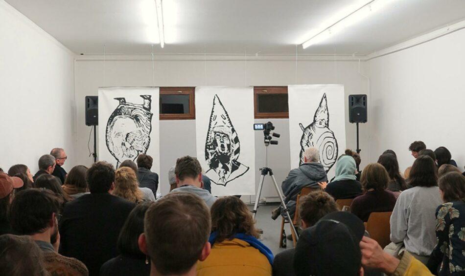Berlin Art Link Ubu Trump Performance by Rainer Ganahl at Spike Berlin