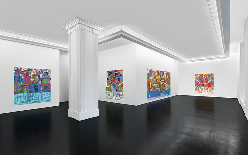 Ajarb Bernard Ategwa: 'The New Dialogue' (installation view), 2018. // Courtesy Peres Projects, Berlin; Photo: Matthias Kolb