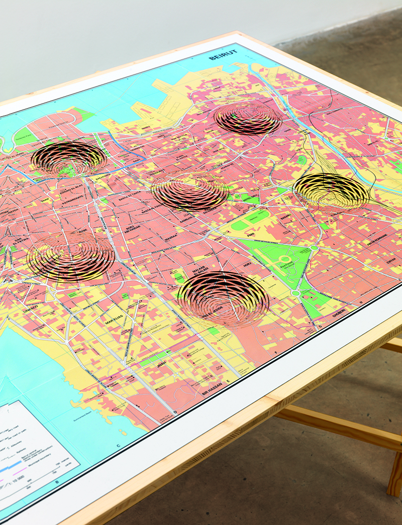 Mona Hatoum, '3-D Cities' (detail), 2008–10.