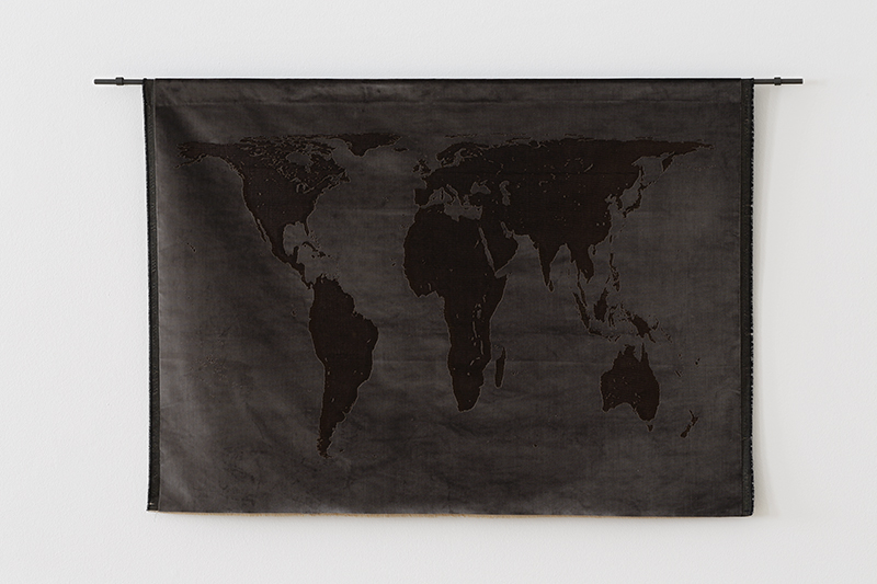 Mona Hatoum, 'Projection (velvet)', 2013. Velvet and mild steel, 97 x 162 cm. // Courtesy of Kunstmuseum St. Gallen;