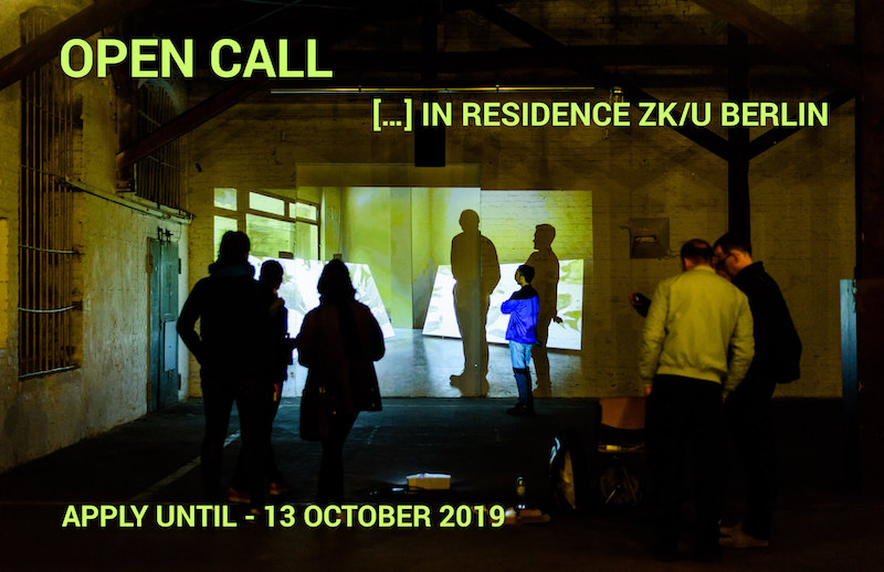 berlinartlink Open Call: ZK/U Berlin 2019