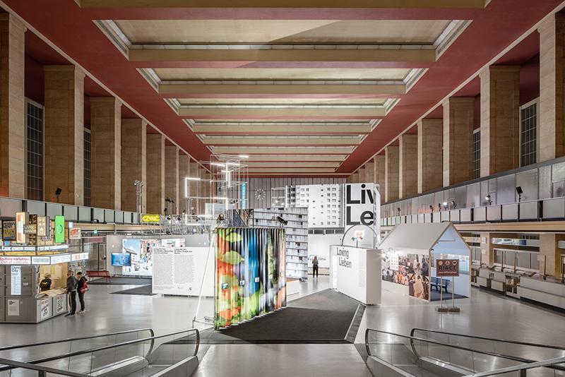 Exhibition view inside Tempelhof Main Hanger