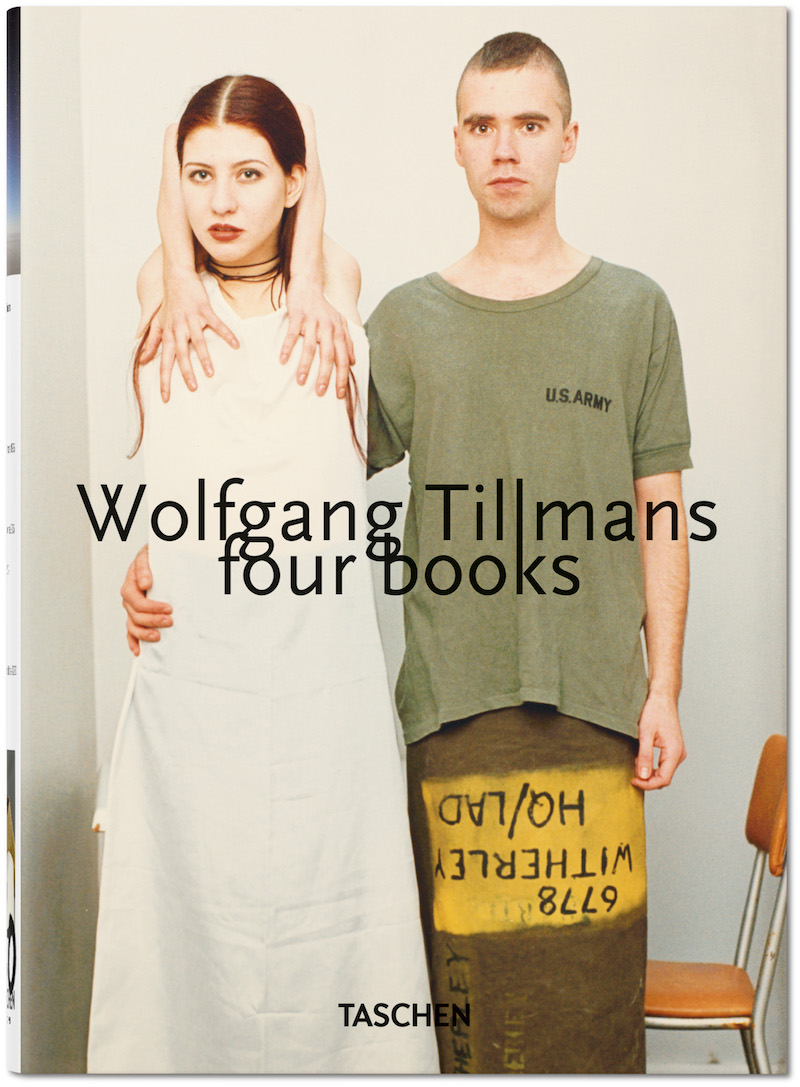 book cover for Wolfgang Tillmans book featuring two people, one with their arms contorted into an impossible shape above their head